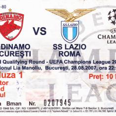 Bilet meci DINAMO BUCURESTI - LAZIO ROMA 28.08.2007