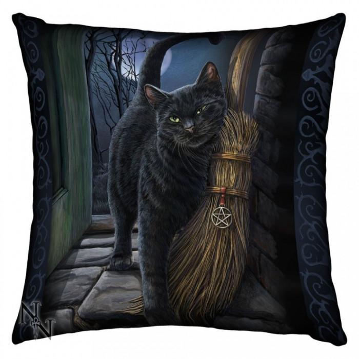Pernă decorativă pisică O întâlnire magică foto mare
