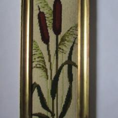 GOBLEN-PAPURA-inramat, vintage - Tapiterie Goblen