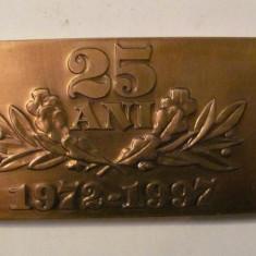 "MMM - Placheta Romania ""25 ani 1972 - 1997"""