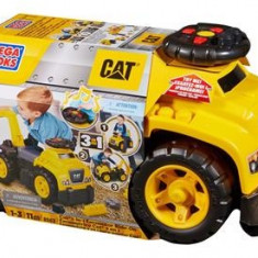Jucarie Mega Bloks Cat Ride-On With Excavator - Vehicul