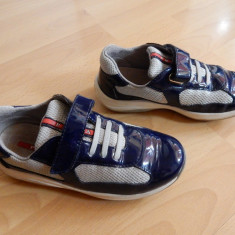 Adidasi originali Prada din piele naturala; marime 31 (20.5 cm talpic interior) - Adidasi copii, Culoare: Din imagine