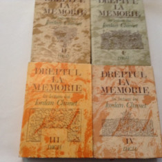 DREPTUL LA MEMORIE * in lectura lui IORDAN CHIMET, 4 volume, RF10/3 - Studiu literar