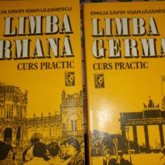 Limba germana curs practic 2 vol/ an 1992/880pag- Emilia Savin/ I.Lazarescu - Curs Limba Germana