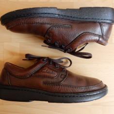 Pantofi Clarks Active Air, talpic Ortema, 100% piele naturala; marime 42; ca noi - Pantofi barbat Clarks, Culoare: Din imagine