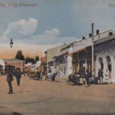 TARGU NEAMT, SALUTARI DIN TRG - NEAMT, STRADA PRINCIPALA, CIRCULATA AUG. 1923 - Carte Postala Moldova dupa 1918, Printata