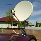 Suport cu antena si lnb pentru rulota - Suport TV