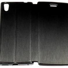 Husa Protectie Toc Flip Cover Allview X2 Soul Style + Folie CADOU !!!, Alt model telefon Allview, Negru, Textil
