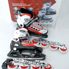 Role/patine - reglabile 37 - 40 - montura rolelor metalica - NOI - Worker Nolan, Unisex, Silicon, Multicolore