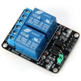 modul 2 relee canale 5V 220v ttl arduino PIC AVR ARM STM32