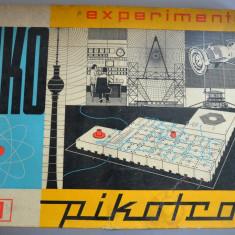 Joc vechi PIKOTRON 1, 2, 3 - joc de electrotehnica - 1979 GDR - Germania - Joc colectie
