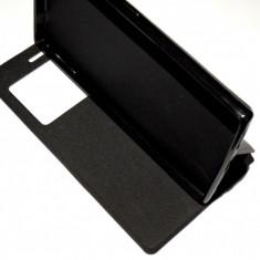Husa Protectie  tip Carte Toc Flip Cover Allview X2 Soul Style + Folie CADOU !, Alt model telefon Allview, Negru, Piele Ecologica