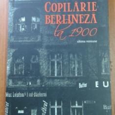 Copilarie berlineza : la 1900 / Walter Benjamin - Biografie
