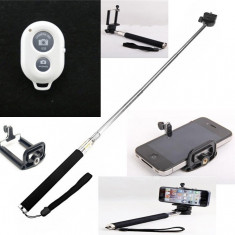Selfie Stick cu telecomanda Bluetooth