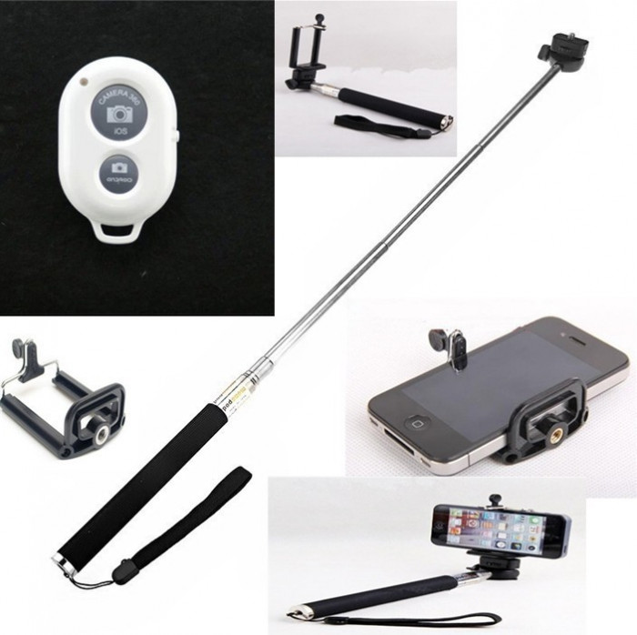 Selfie Stick cu telecomanda Bluetooth foto mare