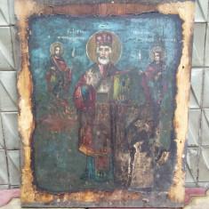 ICOANA ROMANEASCA - SF. NICOLAE - pictura pe lemn - sec 19 - Icoana pe lemn