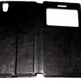 Husa Protectie Toc Flip Cover Allview X2 Soul Style + Folie CADOU !!! - Husa Telefon Allview, Negru, Piele Ecologica, Cu clapeta