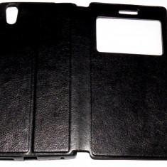 Husa Protectie Toc Flip Cover Allview X2 Soul Style + Folie CADOU !!!, Alt model telefon Allview, Negru, Piele Ecologica
