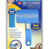 Perie pieptan pentru animale Pet Zoom cu sistem de autocuratare