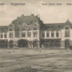 BAIA MARE, HOTELUL STEFAN VODA, CIRCULATA AUG. 1924 - Carte Postala Maramures dupa 1918, Printata