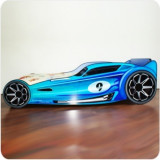 Pat copii masina Hot Wheels albastra