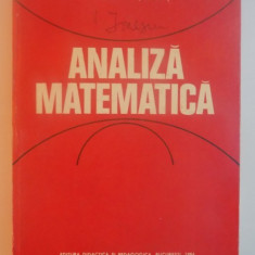 ANALIZA MATEMATICA de MARCEL ROSCULET, 1984 - Carte Matematica