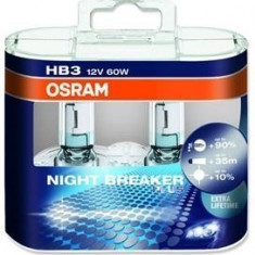 Set 2 becuri HB3 Osram Night Breaker Unlimited