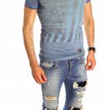 Tricou tip ZARA - tricou barbati - tricou slim fit - tricou fashion - 6532, Marime: S, M, L, XL, Culoare: Din imagine