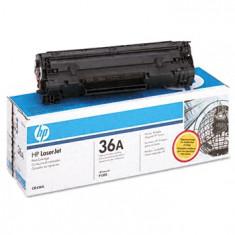 Cartus original HP CB436A (36A), REINCARCAT, Stare foarte BUNA - Toner