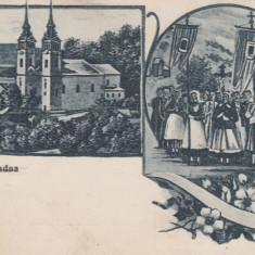 MARIARADNA (ARAD), MANASTIREA, MULTIME, STEAGURI, CIRCULATA APR.1917 - Carte Postala Crisana 1904-1918, Printata