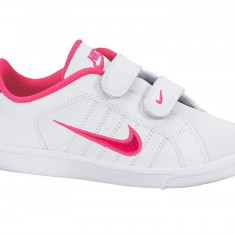 Adidasi originali copii NIKE COURT, marimea 34 - Adidasi copii Nike, Culoare: Alb, Fete, Piele naturala