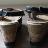 Sandale noi, piele naturala, Naturalizer (gen Musette)