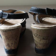 Sandale noi, piele naturala, Naturalizer (gen Musette) - Sandale dama, Culoare: Negru, Marime: 37