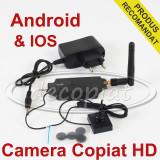 Camera Video in Nasture pentru COPIAT la examene BAC sistem de Casti si CASCA