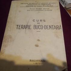 MEMET GAFAR - CURS DE TERAPIE BUCO-DENTARA 1973