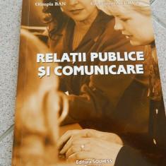 Relatii publice si comunicare, Ed. Solness, Olimpia Ban, Constantin Negrut - Carte de publicitate