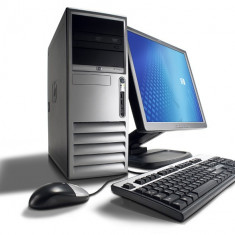 Pachet Computer HP Compaq DC7700, Core 2 Duo E6300 1.86Ghz, 2GB DDR2, 80GB, 12393 - Sisteme desktop cu monitor HP, Intel Core 2 Duo, 1501- 2000Mhz, 40-99 GB, 15 inch
