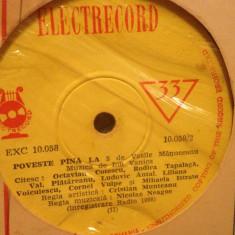 POVESTE PINA LA 5 - de V.MANUCEANU(EXC 10058/ELECTRECORD) - disc VINIL SINGLE 7