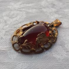 Medalion Rusia 1900 Vintage executat manual montura alama Elegant de Efect - Bijuterie veche