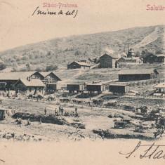 SLANIC PRAHOVA SALUTARI DIN ROMANIA ASEZARI LA MINELE DE SARE, CIRC.JUL.1902 - Carte Postala Muntenia pana la 1904, Circulata, Printata