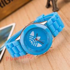 Ceas sport de dama, curea silicon - albastru deschis + cutie CADOU