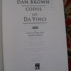 CODUL LUI DA VINCI DAN BROWN - Roman, Rao, Anul publicarii: 2006