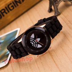 Ceas sport de dama, curea silicon - negru + cutie CADOU - Ceas dama, Quartz, Analog
