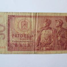 CEHOSLOVACIA 50 KORUN 1964 - bancnota europa