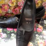 Pantofi piele negri mas. 36 - Pantof dama, Culoare: Negru