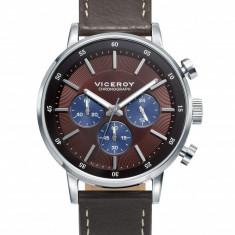 Ceas Viceroy barbatesc cod 471023-47 - pret 699 lei (marca spaniola; original) - Ceas barbatesc Viceroy, Casual, Quartz, Inox, Piele, Cronograf