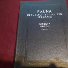 FAUNA REPUBLICII SOCIALISTE ROMANIA VOL XI INSECTA - Carte Zoologie