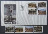NAMIBIA 1991 - ZEBRE,  4 VALORI NEOBITERATE SI 1 FDC OBLITERAT - AS 087D