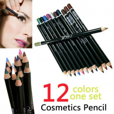 12 x creioane contur ochi / buze - machiaj fete - Creion contur ochi