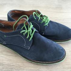 Pantofi barbatesti piele intoarsa Ben Sherman marime 42 - Pantofi barbati Ben Sherman, Culoare: Bleumarin